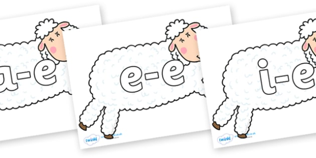 Modifying E Letters on Hullabaloo Sheep to Support Teaching on Farmyard Hullabaloo - Modifying E, letters, modify, Phase 5, Phase five, alternative spellings for phonemes, DfES letters and Sounds