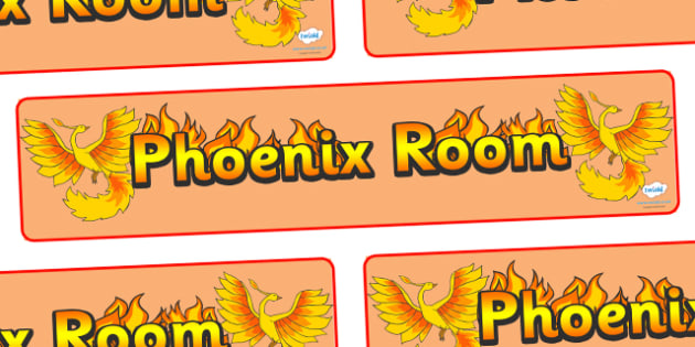 Phoenix Room Display Banner - Phoenix Room, phoenix, room banner, display, areas signs, areas, display banner, display