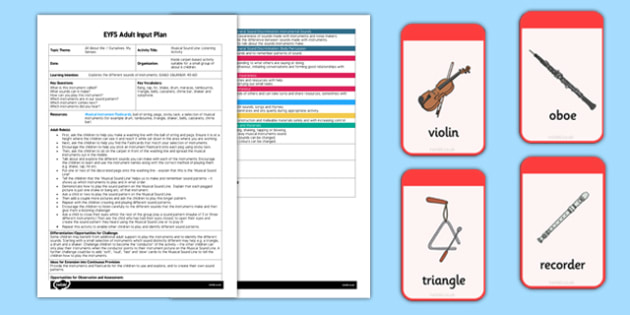Musical Sound Line: Listening Activity EYFS Adult Input Plan and Resource Pack - EYFS, planning, all about me, ourselves, my senses