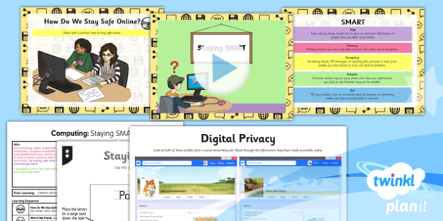 PlanIt - Computing Year 3 - Internet Research and Communication Lesson 5: Staying SMART Lesson Pack - internet, safety, SMART, rules, sharing