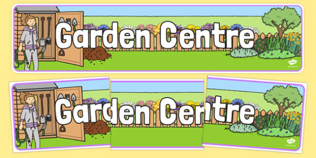 Garden Centre Display Banner - Banner, display, garden centre, plants, plant, topic