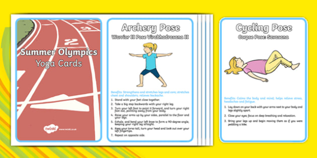 Summer Olympic Yoga Cards - usa, america, summer olympics, yoga, cards
