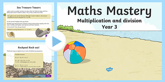Maths Mastery Activities Year 3 Multiplication PowerPoint