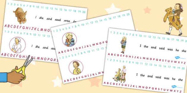 Combined Number and Alphabet Strips to Support Teaching on Dogger - numbers, letters