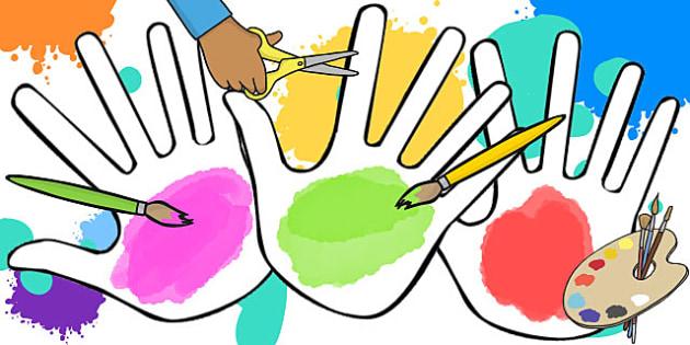 Blank A4 Handprints - blank, handprint, hands, cut out, a4, cut