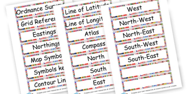 OS Map words - Maps Primary Resources, points, map, travel, ordinance survey