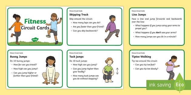 Fitness Challenge Cards, fitness, exercise, PE, physical education - Health, Sports and P.E