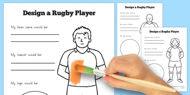Design a Rugby Player Worksheet - australia, rugby, player, worksheet