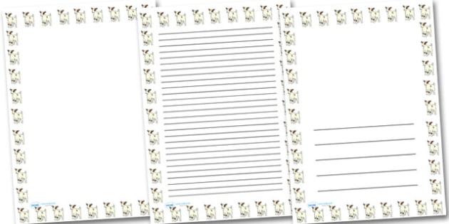 Baby Goat Kid Portrait Page Borders- Portrait Page Borders - Page border, border, writing template, writing aid, writing frame, a4 border, template, templates, landscape