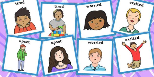 Emotions Matching Cards Set 3 - emotions, matching, cards, match