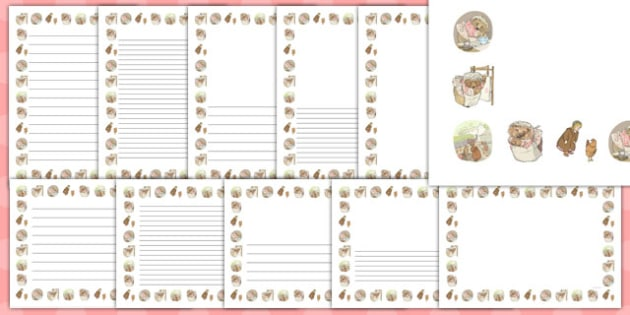 The Tale of Mrs Tiggy Winkle Page Borders - mrs tiggy winkle, page borders