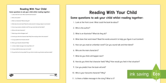 Parent Reading Prompts - parent reading prompts, prompt, prompts, reading, read, book, story, parent, parents, mum, dad, books