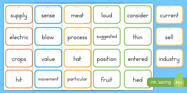 Fry Words The Ninth Hundred Flashcards