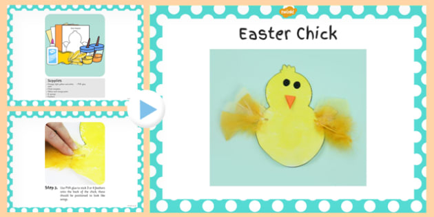 Chick Craft PowerPoint - chick, craft, powerpoint, activity
