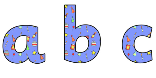 Birthday Themed A4 Display Lettering 2 - Birthday, Birthday Themed, Birthday Themed Display Lettering, A4 Display Lettering 2, A4 Birthday Display