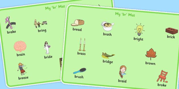 BR Word Mats - br, word mats, word, mats, sen, sound, br sound