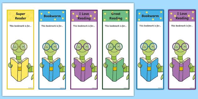 Editable Bookworm Bookmarks - Editable Bookworm Bookmarks, bookworm, editable,  Bookmark, bookmark template,  gift,  present, book, reward, achievement