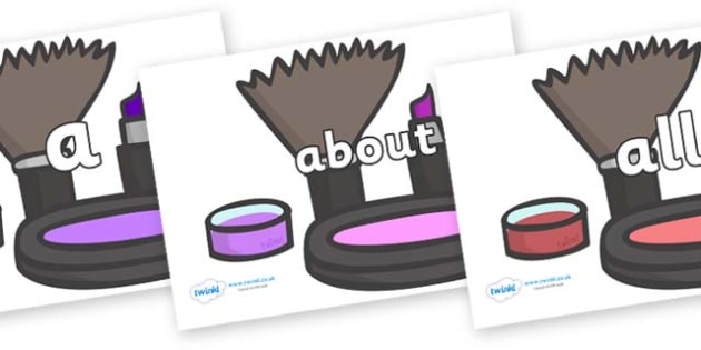 100 High Frequency Words on Make Up - High frequency words, hfw, DfES Letters and Sounds, Letters and Sounds, display words