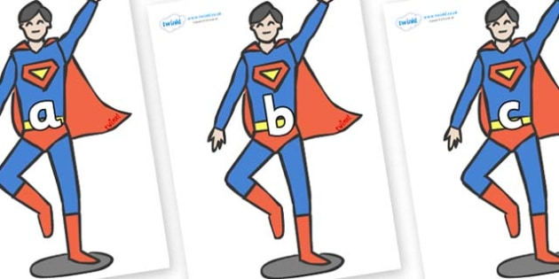 Phase 2 Phonemes on Superhero - Phonemes, phoneme, Phase 2, Phase two, Foundation, Literacy, Letters and Sounds, DfES, display