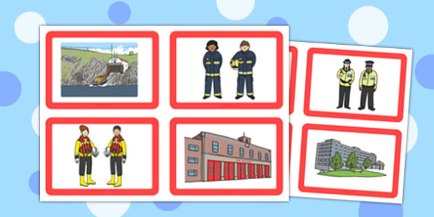 Jobs and Place of Work Matching Cards - jogs, place, work, matching