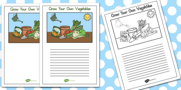 Grow your Own Vegetables Writing frames - australia, grow, write