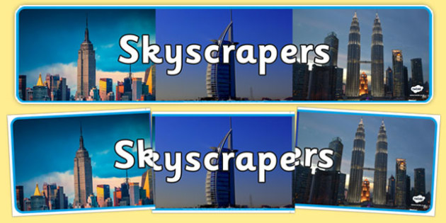 Skyscrapers Photo Display Banner - skyscrapers, display banner, display, banner