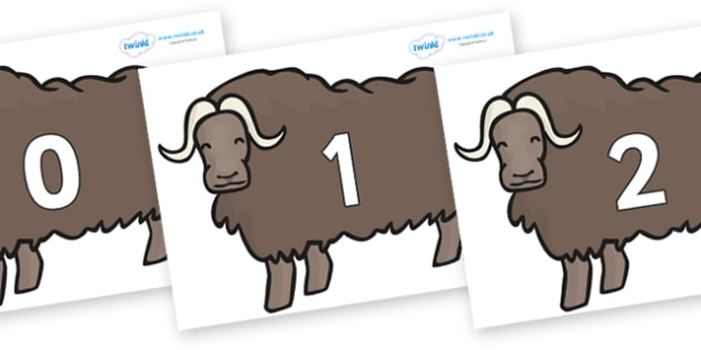 Numbers 0-31 on Chinese Ox - 0-31, foundation stage numeracy, Number recognition, Number flashcards, counting, number frieze, Display numbers, number posters