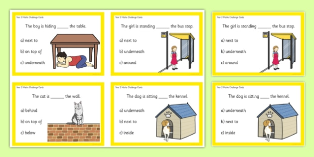 Year 2 Maths Position Challenge Cards - year 2, maths, challenge cards, challenge, cards, position