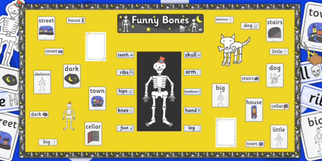Ready Made Display Pack to Support Teaching on Funnybones - display, pack, ready made