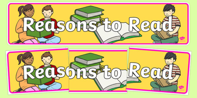 Reasons to Read Display Banner - reasons to read, reasons, read, display banner, display, banner