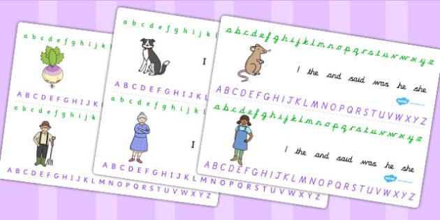 The Enormous Turnip Alphabet Strips - alphabet strips, turnip
