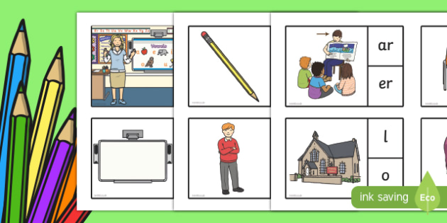 Back to School Final Sound Peg Matching Game - back to school, final sound, peg, match, matching, game, activity