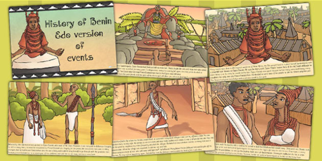 History of Benin Edo Version of Events Story Cards - stories