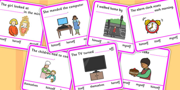 Fill In The Sentence Reflexive Pronouns Multiple Choice Answers