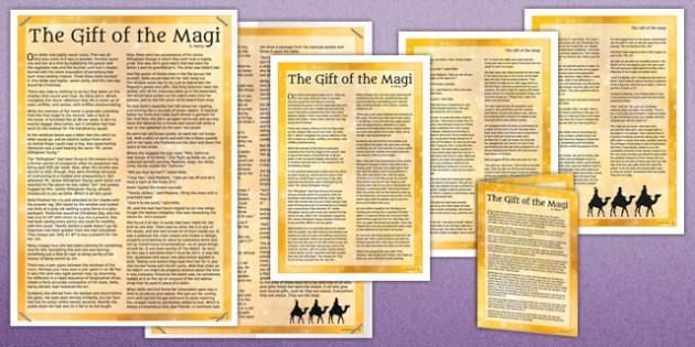 Gift of the Magi Story - gift of the magi, story, christmas, ks3, gift, magi