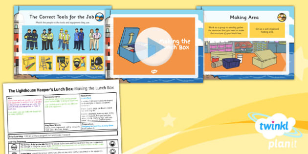 PlanIt - DT KS1 - The Lighthouse Keeper's Lunch Box Lesson 4: Making the Lunch Box Lesson Pack
