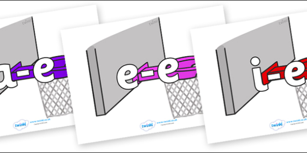 Modifying E Letters on Basketball Hoops - Modifying E, letters, modify, Phase 5, Phase five, alternative spellings for phonemes, DfES letters and Sounds