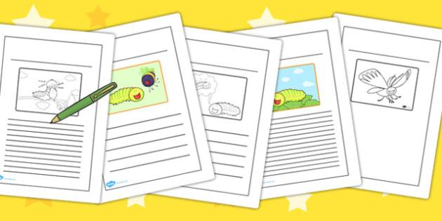 Story Writing Frames to Support Teaching on The Crunching Munching Caterpillar - write