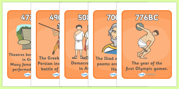 Ancient Greece Timeline - Ancient Greeks, history, timeline, Greeks, Greece, display, banner, poster, sign, Olympic games, Homer, Athens, Alexander the Great , theatre, parthenon, Sparta, peloponnesian war, persians