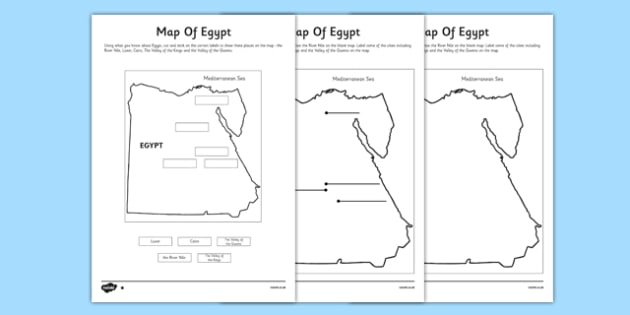 Map of Egypt Labelling Activity Sheet - cfe, map of egypt, labelling, activity, sheet, worksheet, label