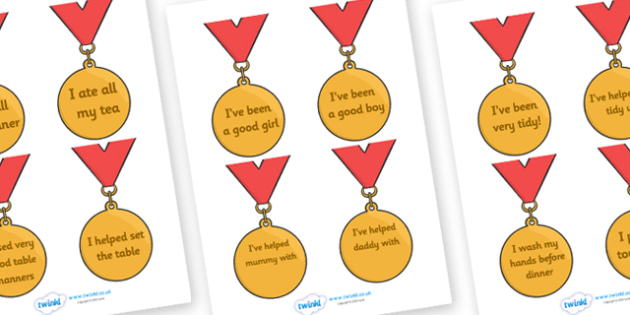 Award Medals (Home Use) - Home award,  award, reward, rewards, school reward, medal, good behaviour, award, good listener, good writing, good reading