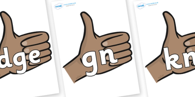 Silent Letters on Thumbs Up - Silent Letters, silent letter, letter blend, consonant, consonants, digraph, trigraph, A-Z letters, literacy, alphabet, letters, alternative sounds