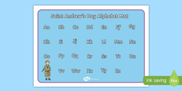Saint Andrew's Day Alphabet Mat-Scottish