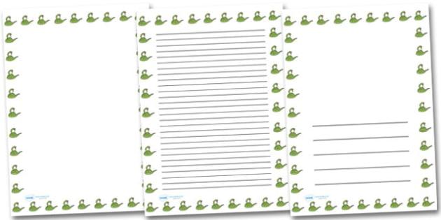 Snake Portrait Page Borders- Portrait Page Borders - Page border, border, writing template, writing aid, writing frame, a4 border, template, templates, landscape