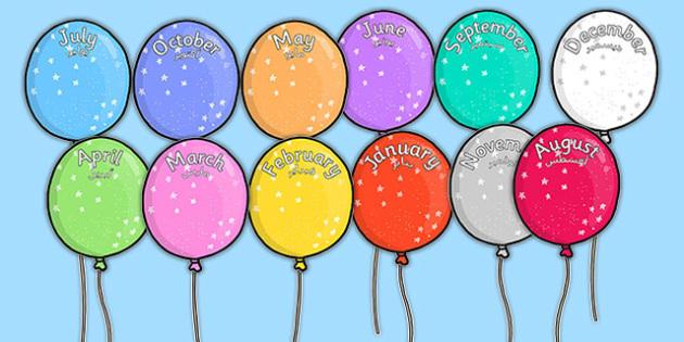 Editable Month Balloons Arabic Translation - arabic, editable, month, balloons, display