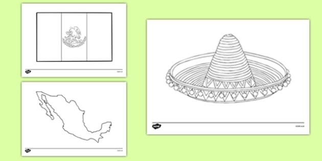 Cinco de Mayo Coloring Sheets - usa, america, cinco de mayo, coloring sheets