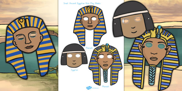 Ancient Egypt Small Role Play Masks - australia, egypt, role-play