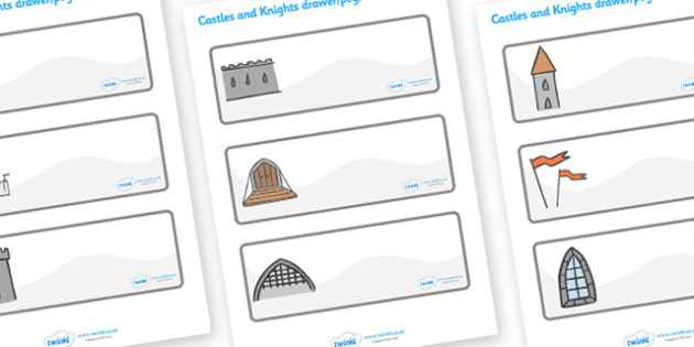 Editable Drawer - Peg - Name Labels (Castles and Knights) - Classroom Label Templates, Resource Labels, Name Labels, Editable Labels, Drawer Labels, Coat Peg Labels, Peg Label, KS1 Labels, Foundation Labels, Foundation Stage Labels, Teaching Labels