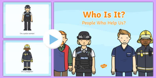 Who is it People Who Help Us PowerPoint Game - powerpoint, powerpoint game, people who help us, who is it, interactive game, class activity, guessing game