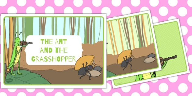 The Ant and the Grasshopper Story Sequencing - australia, story